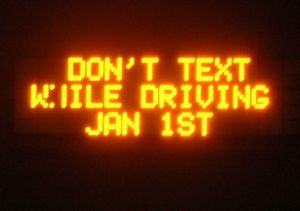 freeway drivers told not to text message