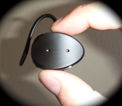 Bluetooth headset image for cell phone law post