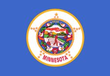 Minnesota flag for vehicle safety