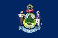 Maine flag for hands free post