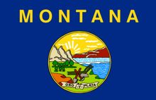 montana state flag for safety post