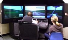cell phone driving researchers use simulator