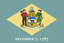 Flag of Delaware for post on cell phone legislation