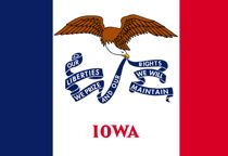 Flag of Iowa for texting law post