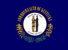 Kentucky state flag for texting & driving post