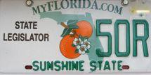 florida state legislator license plate
