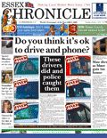 mobile phone newspaper cover