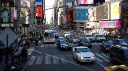 new york distracted driving in times square