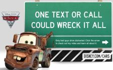 distracted driving ad by Pixar Disney