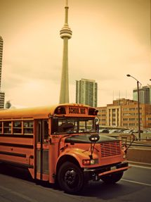 toronto tower - school bus driving safety