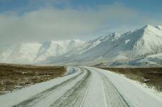 driving on alaska highway