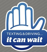 AT&T It Can Wait logo for texting & driving campaign