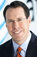 "AT&T chief Randall Stephenson says distracted driving campaign ""logical"""