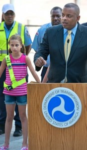DOT chief Anthony Foxx at pedestrian safety event