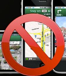 Google map app ban