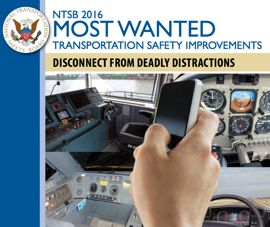 NTSB distraction facts