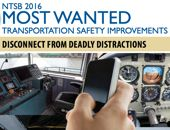 NTSB posts distraction as 'Most Wanted'