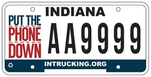 distracted driving license plate