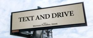 Ad firm tries to bury distracted driving